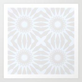 Gray pinwheel Flower Art Print