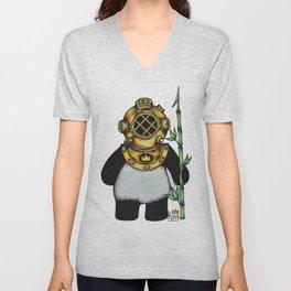 Scuba Panda Unisex V-Neck