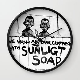 Wash-Day is Finally Over Wall Clock