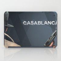 casablanca iPad Cases featuring Cinema Classics: Casablanca by Raven Krupnow