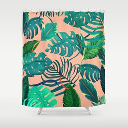 Summer Tropical Leaves Shower Curtain