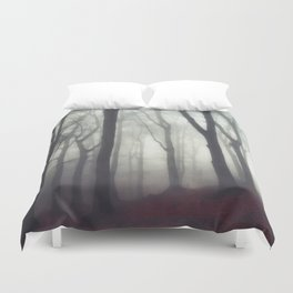 bonds - foggy forest scene Duvet Cover