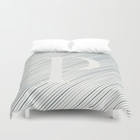 striped Duvet Covers featuring Striped P by DLUTED DESIGN