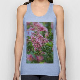 Aesculus red blossom cluster Unisex Tank Top