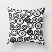 steampunk Throw Pillows featuring SteamPunk by sasan p