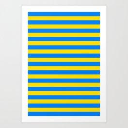 Palau Parma flag stripes Art Print