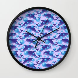 Dolphins under water #society6 #decor #buyart #artprint Wall Clock