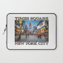 Times Square Sparkle (with typography) Laptop Sleeve