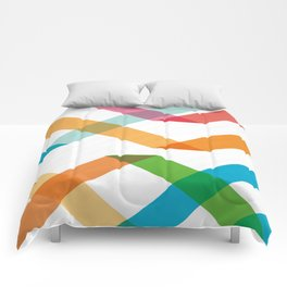 Colorful lines Comforters