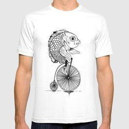 fish on bike T-shirt
