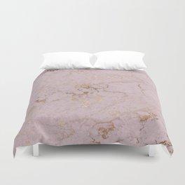 Chic mauve pink gold elegant stylish marble Duvet Cover