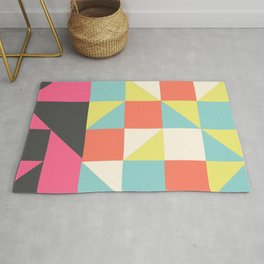 Abstract Aztec Pattern Rug