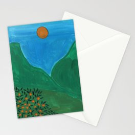 Oranges field Stationery Cards