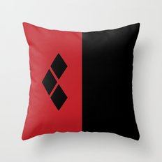 Two Sides of Harley Quinn Throw Pillow