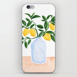 Lemon Tree Branch in a Vase iPhone Skin