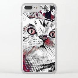 Cat Decor Clear iPhone Case