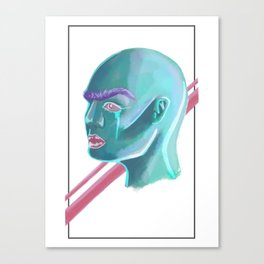 Bald Beauty Canvas Print
