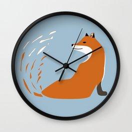 Fox Graphic Design Wall Clock