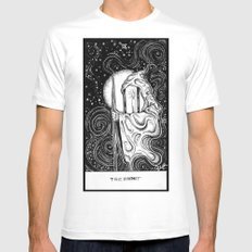 The Hermit Tarot White Mens Fitted Tee MEDIUM
