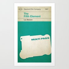 The Fifth Element, if it were a Penguin Book. Art Print