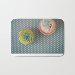 Polka Dots and Cupcakes Bath Mat