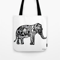 ganesh Tote Bags featuring Ganesh by doctusdesign