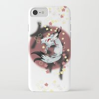 okami iPhone & iPod Cases featuring Okami Amaterasu by @Milre_art