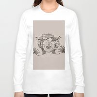 pomegranate Long Sleeve T-shirts featuring pomegranate  by nene