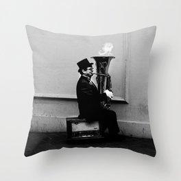 Tuba Fire Throw Pillow