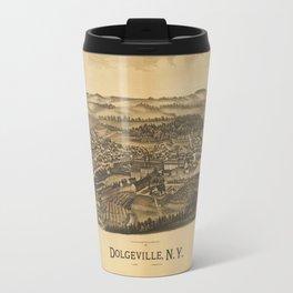 Aerial View of Dolgeville, New York (1890) Travel Mug