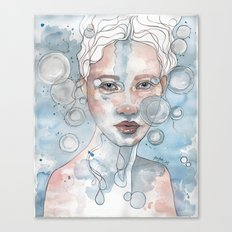 Meditation II, watercolor artwork Canvas Print