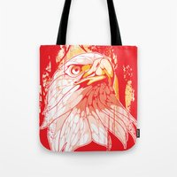 eagle Tote Bags featuring Eagle by KUI29