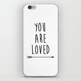 You Are Loved Printable Art, Nursery Art, Black and White Art, Arrow Art, You are So Loved Word Art, iPhone Skin