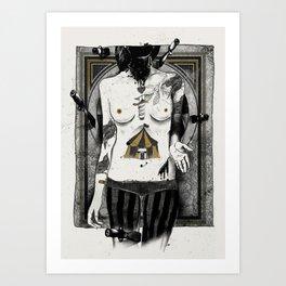 Target girl Art Print