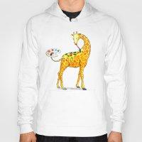 giraffe Hoodies featuring Giraffe by gunberk
