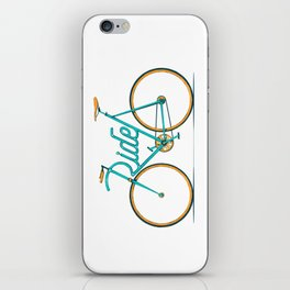 Ride Typo-Bike iPhone Skin