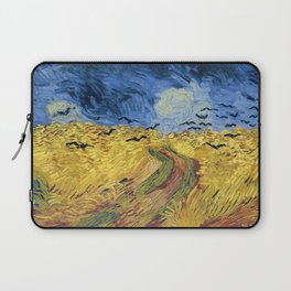 Wheatfield with Crows by Vincent van Gogh Laptop Sleeve