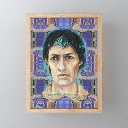 A hologram from Fayum Framed Mini Art Print