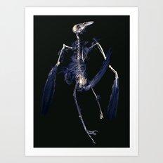 Crow Skeleton Art Print
