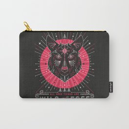 Wild & Free Wolf – Pink & Black Palette Carry-All Pouch