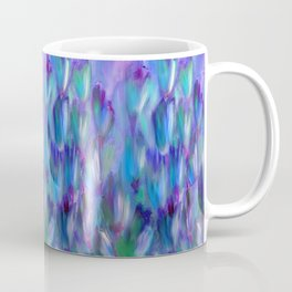 Flowering Vines in Shades of Blue, Violet and Green Coffee Mug