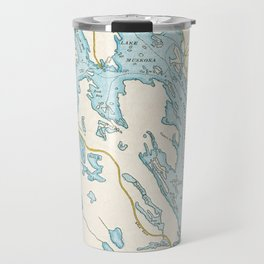 Vintage Muskoka Lakes Map Travel Mug