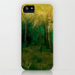 Magical forest landscape iPhone Case
