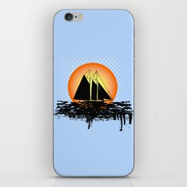 Grunge sailing iPhone Skin