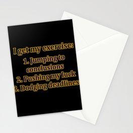 Funny One-Liner Exercise Joke Stationery Cards
