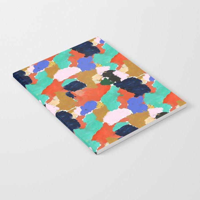 Kara - paint palette abstract minimal modern art bright colorful boho urban painting college dorm Notebook