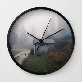 Barn Cat Wall Clock