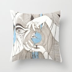 Small blue thing Throw Pillow