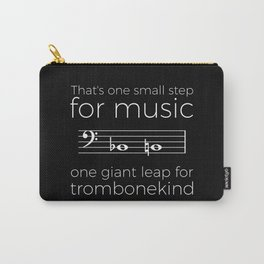 That's one small step for music, a giant leap for trombonekind Carry-All Pouch