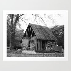 ruined barn Art Print